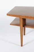 Walnut Coffee Table in the style of Bertha Schaefer for Singer & Sons, Side View Cropped