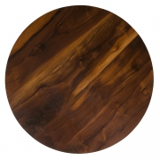 Walnut and Oak Round Coffee Table by Oluf Lund, Birds Eye View