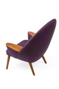 Hans Wegner Upholstered Peacock Easy Chair Model JH521