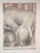 """Motherhood of a Sheep"" Graphite on Canvas by Gino Cosentino"