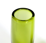"Holmegaard Glass ""Rondo"" Vases in ""Majgron"" by Per Lutken"