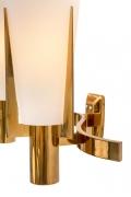 Stilnovo Model 2021/1 Brass & Glass Sconces