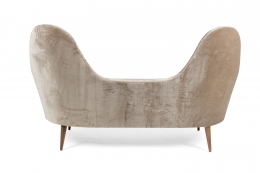Camelback Settee in the Manner of Cesare Lacca in Mohair, Back View