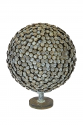 """Bronze and Copper Sculpture """"Autumn Bloom"""" by Douglas Ihlenfeld"""