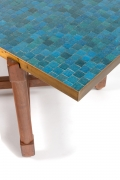 Dunbar Murano Glass Tile Top Coffee Table by Edward Wormley, Close Up of Corner