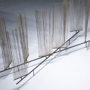 Harry Bertoia Early Wire Form Sculpture, Close Up