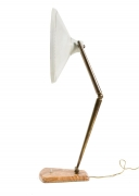 Midcentury Articulating Desk Lamp with Marble Base
