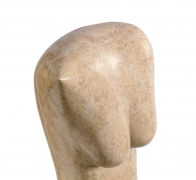 Marble Abstract Figural Sculpture by Oriani, Close Up 1