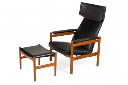 Fritz Hansen Teak Wing Chair