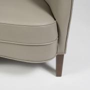 "Scandinavian Mid-Century Nanna Ditzel ""Allé Sofa"" Reupholstered in Leather, Leg 2"
