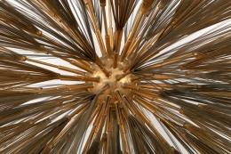 Harry Bertoia Gilt Bronze, Brass and Steel Dandelion Sculpture, Close Up