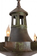 Patinated Bronze Oil Light Style Chandelier