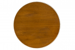 Warren Platner Walnut and Chrome Side Table for Knoll, Birds Eye View
