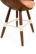 "Walnut and Leather ""Zun"" Dining or Conference Chair by Lop Furniture, Legs"