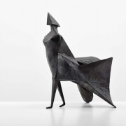 "Lynn Chadwick ""Walking Woman"" Maquette IV Bronze Sculpture Signed Edition 5/9"