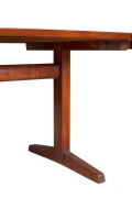 George Nakashima Black Walnut Trestle Dining Table with Extensions