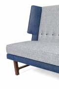 Wing Settee in the Manner of Dunbar by Lost City Arts, Cropped View of Side