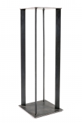 Artist Made Industrial Steel Pedestal Stand by Robert Koch, Cropped Bottom