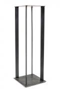 Artist Made Industrial Steel Pedestal Stand by Robert Koch, Cropped Bottom