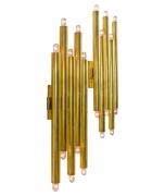 Gio Ponti Brass Multi Cylinder Sconces