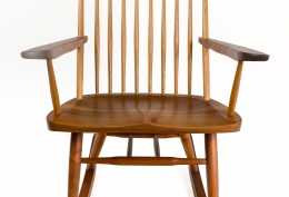 "George Nakashima Walnut & Hickory ""New Chair"" Rocker"
