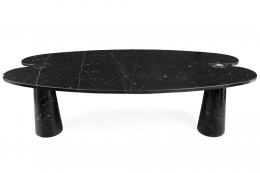 "Angelo Mangiarotti Nero Marquina Marble ""Eros"" Dining Table"