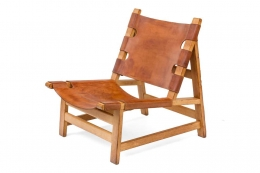 Børge Mogensen Oak and Leather Lounge Chairs