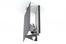 "Charlotte Perriand ""CP1"" Black Metal Sconces"