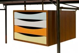 Finn Juhl Model BO69 Nyhavn Teak Desk with Extension for Bovirke, Drawers