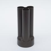 "Enzo Mari ""Trifoglio"" Dark Brown Plastic Vase for Danese"