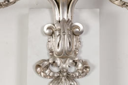 E. F. Caldwell Silvered Bronze Neoclassical Revival Sconces
