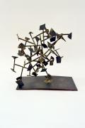 Harry Bertoia Welded Steel and Brass Sculpture, 2