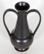 Gio Ponti Black Ceramic Vase for Neoponti
