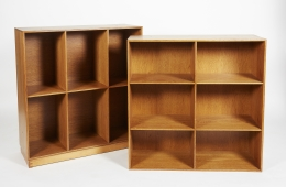 Rare Modular Bookcase and Cabinets by Mogens Koch