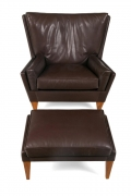 Lounge Chair & Ottoman in the Manner of Illum Wikkelso