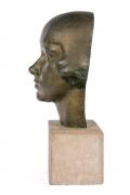"Gertrude Vanderbilt Whitney Bronze Sculpture ""Young Woman"", Profile"