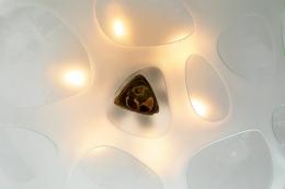 Max Ingrand Flush Mount Chandelier for Fontana Arte