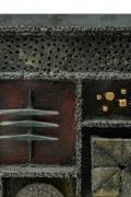 Paul Evans Custom Sculpture Front Two-Door Cabinet for Directional