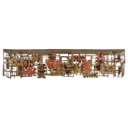 Silas Seandel Copper, Brass & Bronze Wall Mounted Console Table