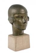 "Gertrude Vanderbilt Whitney Bronze Sculpture ""Young Woman"", 3/4 View"