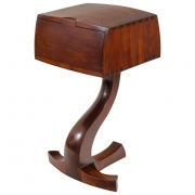 American Studio Crafts Movement Walnut Two-Drawer Stand