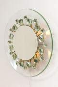 Ghiro Studios Backlit Chisel Cut Glass Mirror, 3/4