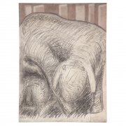"""""""Motherhood of a Sheep"""" Graphite on Canvas by Gino Cosentino"""