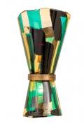 Venini Pezzato Murano Glass & Brass Wall Light