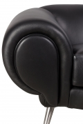 Black Leather Lounge Chair by Illum Wikkelsø, Close Up 3