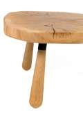 "Solid Oak ""Troll"" Occasional Table by Lop Furniture, Side View Cropped"