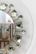 Ghiro Studios Backlit Chisel Cut Glass Mirror, Close Up of Side