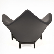 Adrian Pearsall Black Leather Coconut Chair, Back