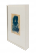 """Adja Yunkers """"Icon XX"""" Framed Oil on Paper, 3/4 View"""