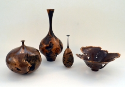 Turned Wood Vessels by Hap Sakwa and an Unknown Studio Artist